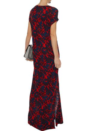 BY MALENE BIRGER Majao tie-front printed stretch-jersey maxi dress