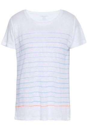 MAJESTIC FILATURES Striped slub linen T-shirt