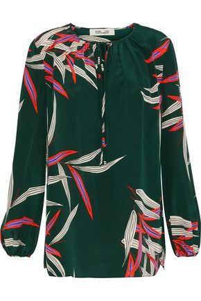 DIANE VON FURSTENBERG Printed silk crepe de chine blouse