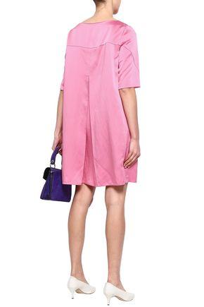 MARNI Pleated satin-crepe mini dress
