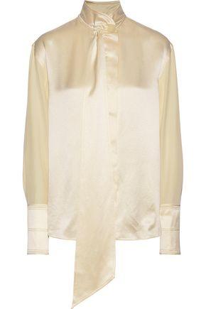 ROKSANDA Mila pussy-bow silk-charmeuse blouse