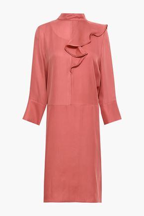 MARNI Ruffled washed-silk dress