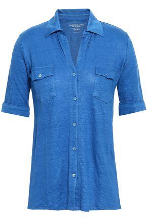 MAJESTIC FILATURES Slub linen-blend jersey shirt