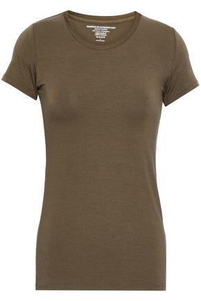 MAJESTIC FILATURES Mélange stretch-jersey T-shirt
