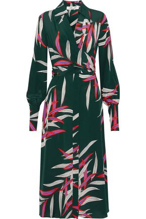 DIANE VON FURSTENBERG Wrap-effect printed silk crepe de chine dress