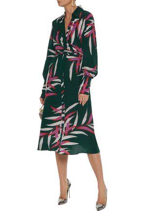 DIANE VON FURSTENBERG Wrap-effect printed silk crepe de chine dress
