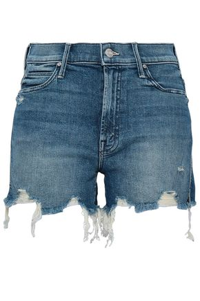 MOTHER Distressed denim shorts