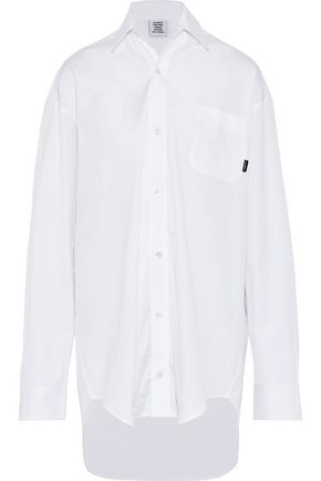 VETEMENTS Oversized cotton-poplin shirt
