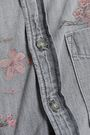 MOTHER Floral-print cotton-chambray shirt