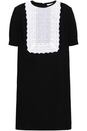SANDRO Lace-paneled jacquard mini dress