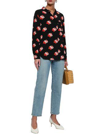 68a37797d2 GANNI Floral-print crepe shirt