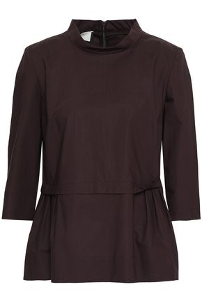 MARNI Pleated cotton peplum top