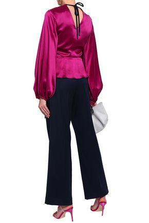 ROKSANDA Cutout silk-satin blouse