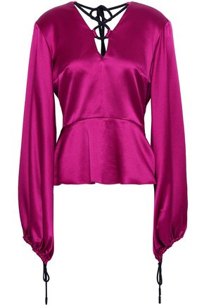 ROKSANDA Cutout silk-satin blouse