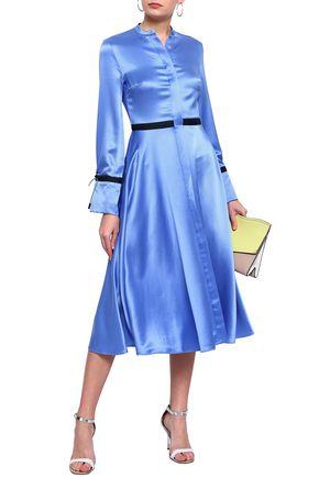 ROKSANDA Silk satin-crepe midi dress