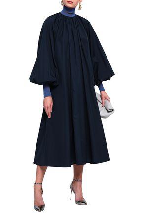 ROKSANDA Cotton-poplin turtleneck midi dress