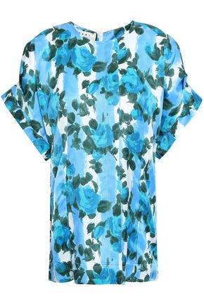 MARNI Floral-print woven top