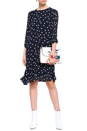 GANNI Floral-print georgette dress