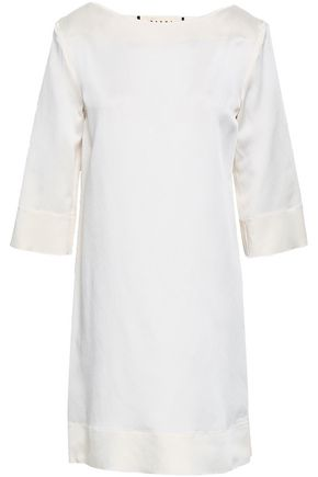 MARNI Satin-crepe mini dress