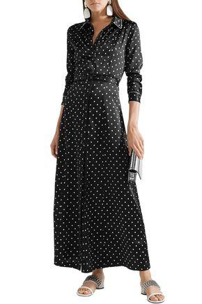81b4c4c5fd34 GANNI Dufort polka-dot silk-blend satin maxi dress