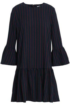 GANNI Clark pinstriped crepe mini dress
