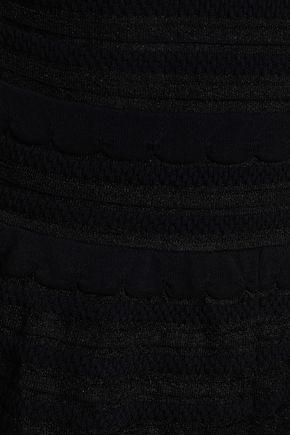 M MISSONI Ruffled crochet-knit cotton-blend playsuit