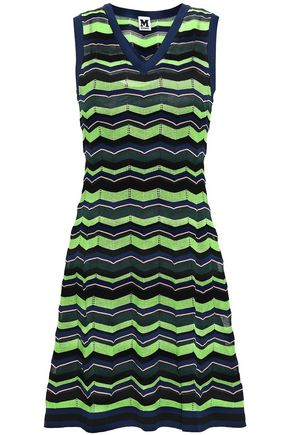 M MISSONI Flared intarsia-knit mini dress