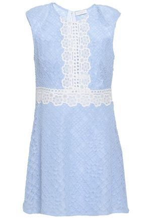 SANDRO Cotton-blend corded lace mini dress
