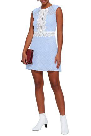 SANDRO Cotton-blend corded lace mini dress