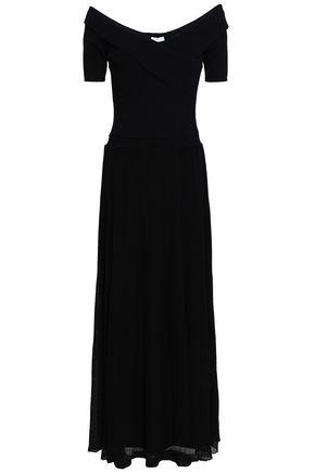 SANDRO Lace-trimmed cotton dress
