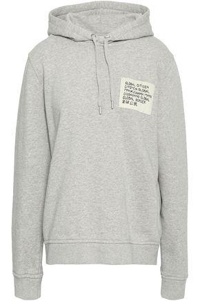 GANNI Lott Isoli appliquéd French cotton-terry hooded sweatshirt