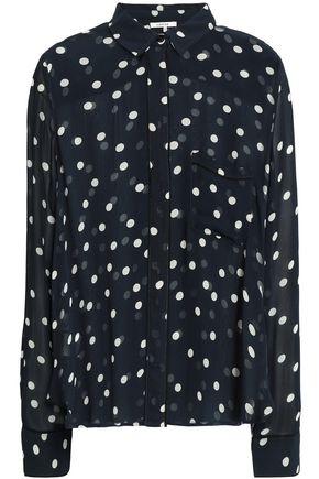 GANNI Marceau polka-dot georgette shirt