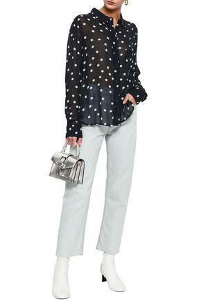 a710bfb3 Marceau floral-print georgette shirt | GANNI | Sale up to 70% off ...