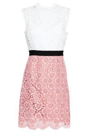 SANDRO Crochet and lace dress