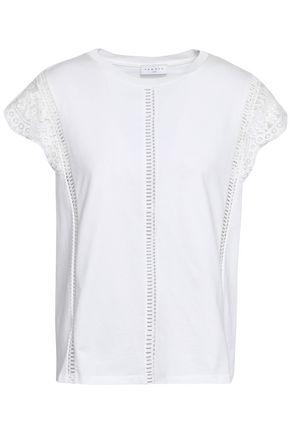 SANDRO Cotton-jersey T-shirt