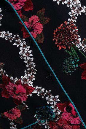 SANDRO Floral-print crepe de chine shirt