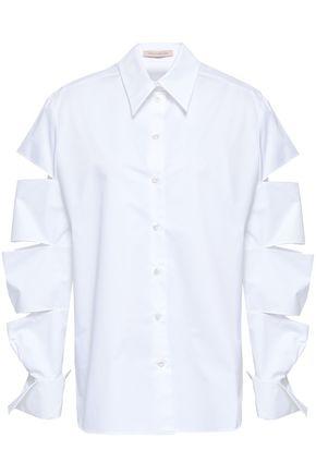 CHRISTOPHER KANE Cutout cotton-poplin shirt