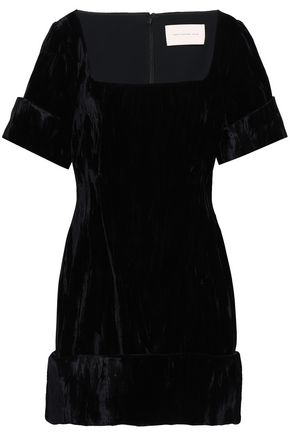 CHRISTOPHER KANE Crushed-velvet mini dress