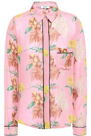 GANNI Marceau floral-print georgette shirt