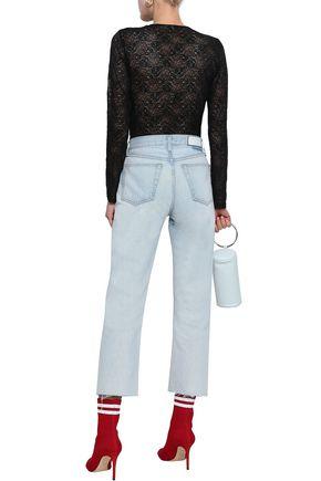 GANNI Chilton knotted lace bodysuit