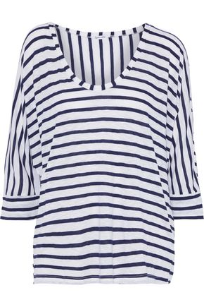 SPLENDID Striped slub jersey top