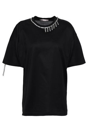 CHRISTOPHER KANE Crystal-embellished slub cotton-jersey T-shirt