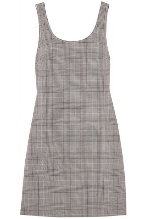 GANNI Prince of Wales checked jacquard mini dress