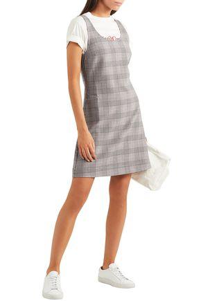 6769913cb GANNI Prince of Wales checked jacquard mini dress