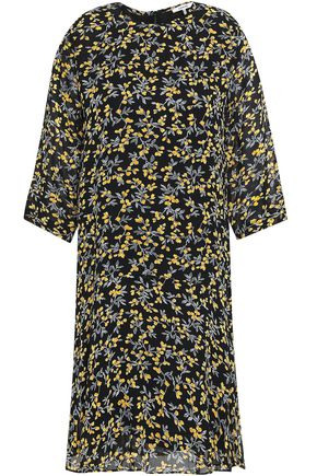 GANNI Floral-print georgette dress