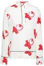 GANNI Harley floral-print crepe de chine blouse
