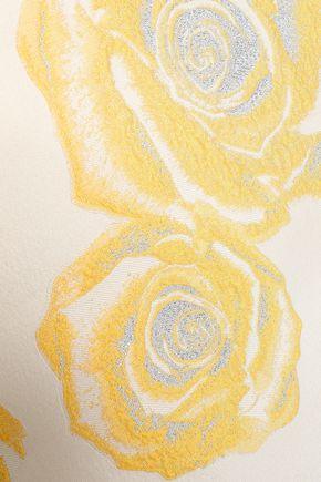 GANNI Turenne tie-back brocade mini dress