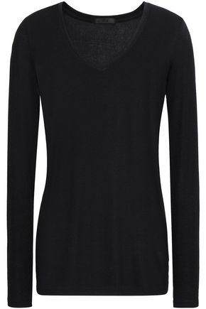 ATM ANTHONY THOMAS MELILLO Ribbed stretch-Micro Modal jersey top