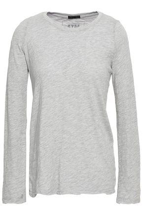 ATM ANTHONY THOMAS MELILLO Mélange slub Pima cotton-blend jersey top