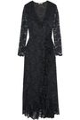 GANNI Flynn ruffle-trimmed lace maxi wrap dress